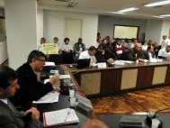 Petroleiros e autoridades municipais defendem a encampação da antiga refinaria Ipiranga pela Petrobras - Foto: Marco Couto/AL